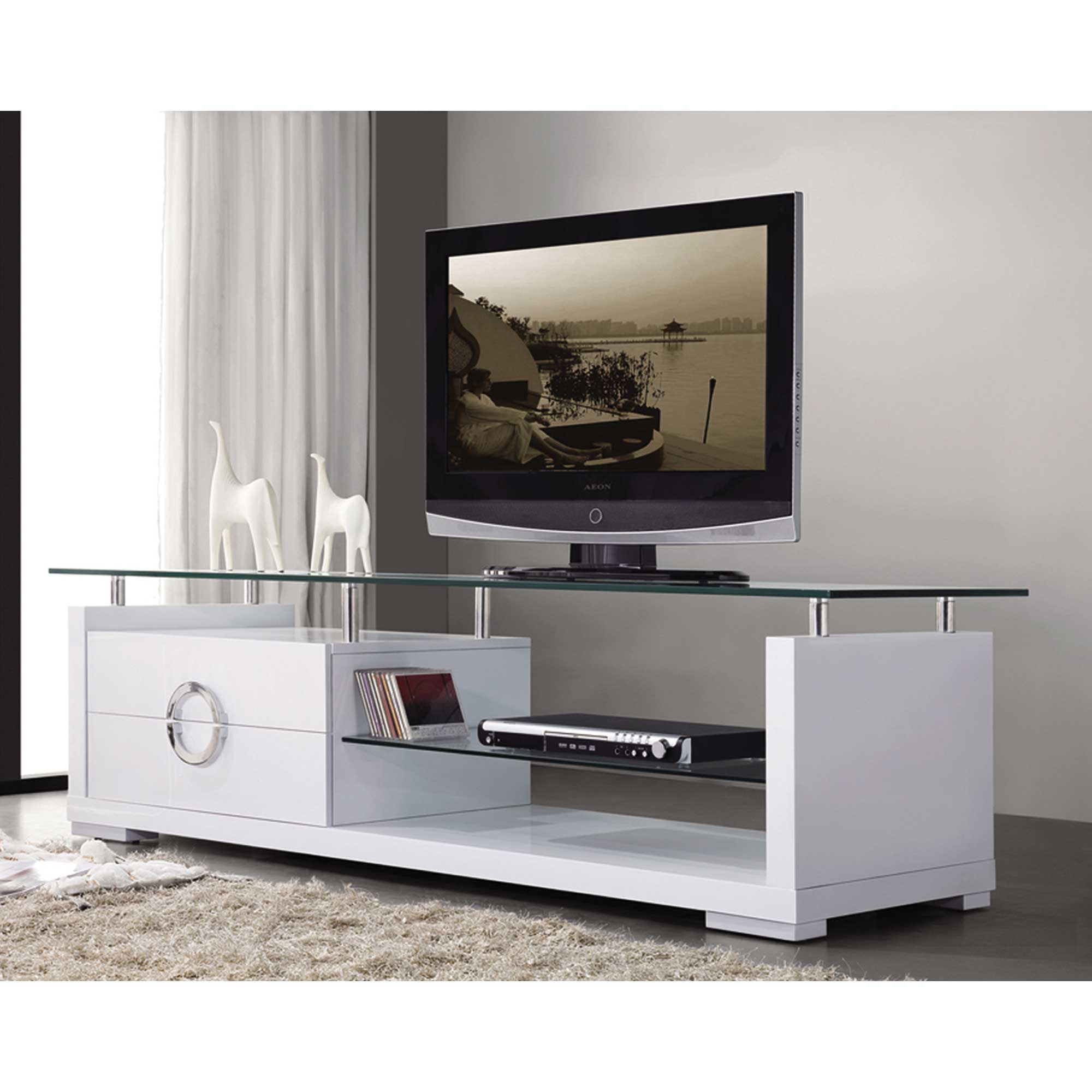 modern white tv stand home deco. Black Bedroom Furniture Sets. Home Design Ideas