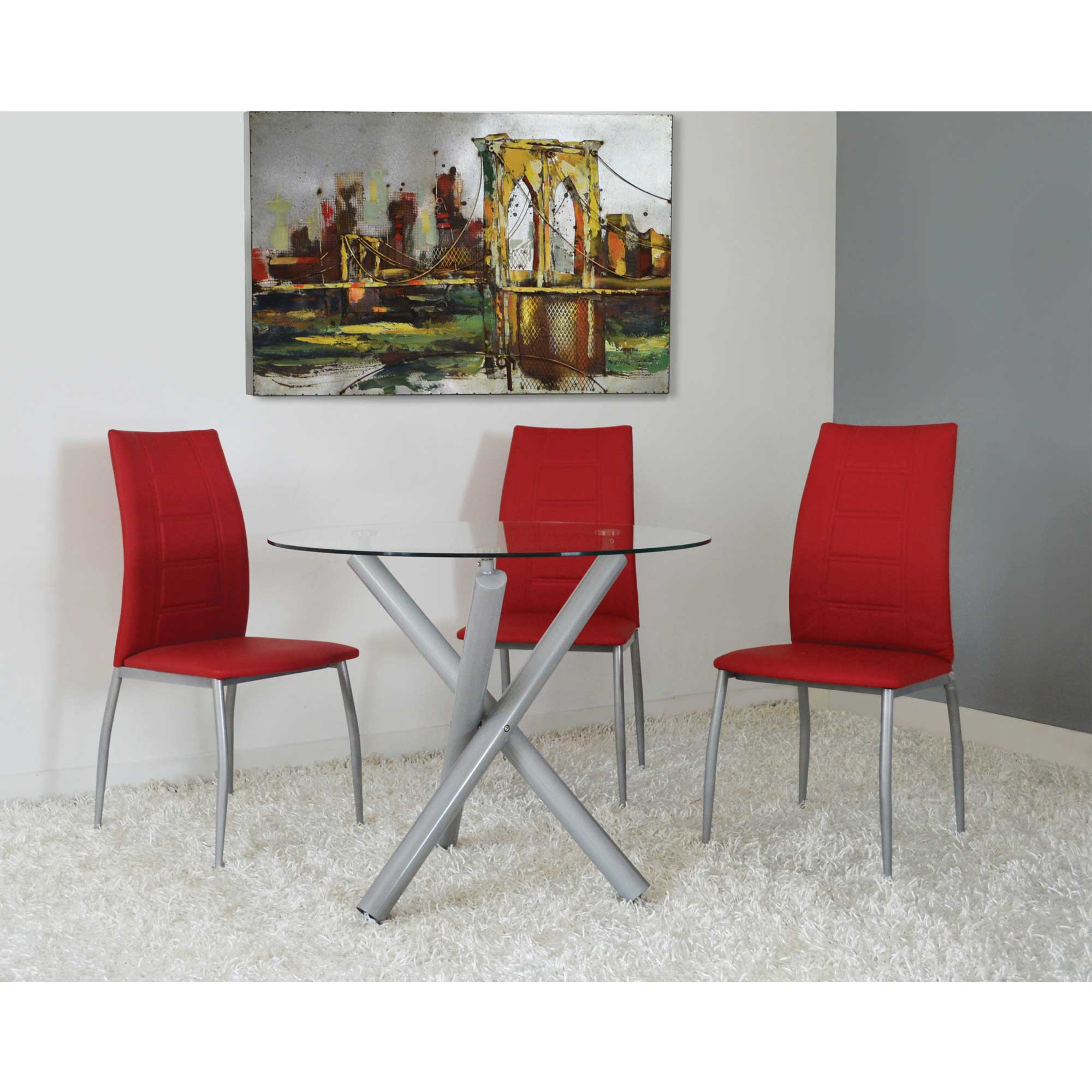 5 PCS Dining Set. Home · Dining Room · Dining Tables; 5 PCS Dining Set