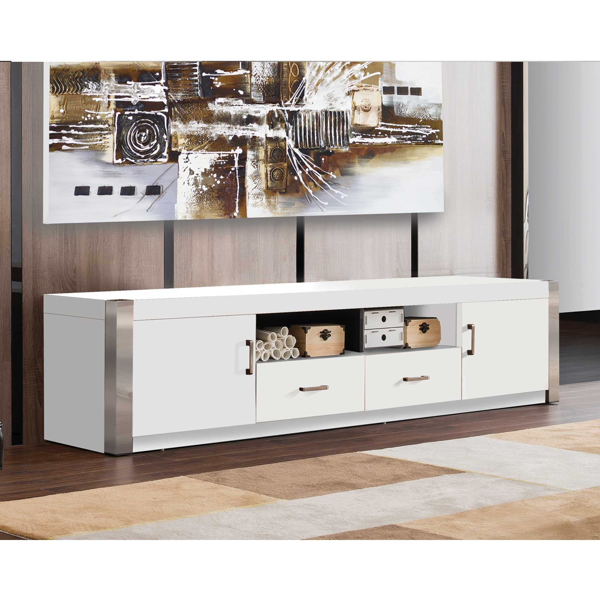 Minimalist White Tv Stand Home Deco