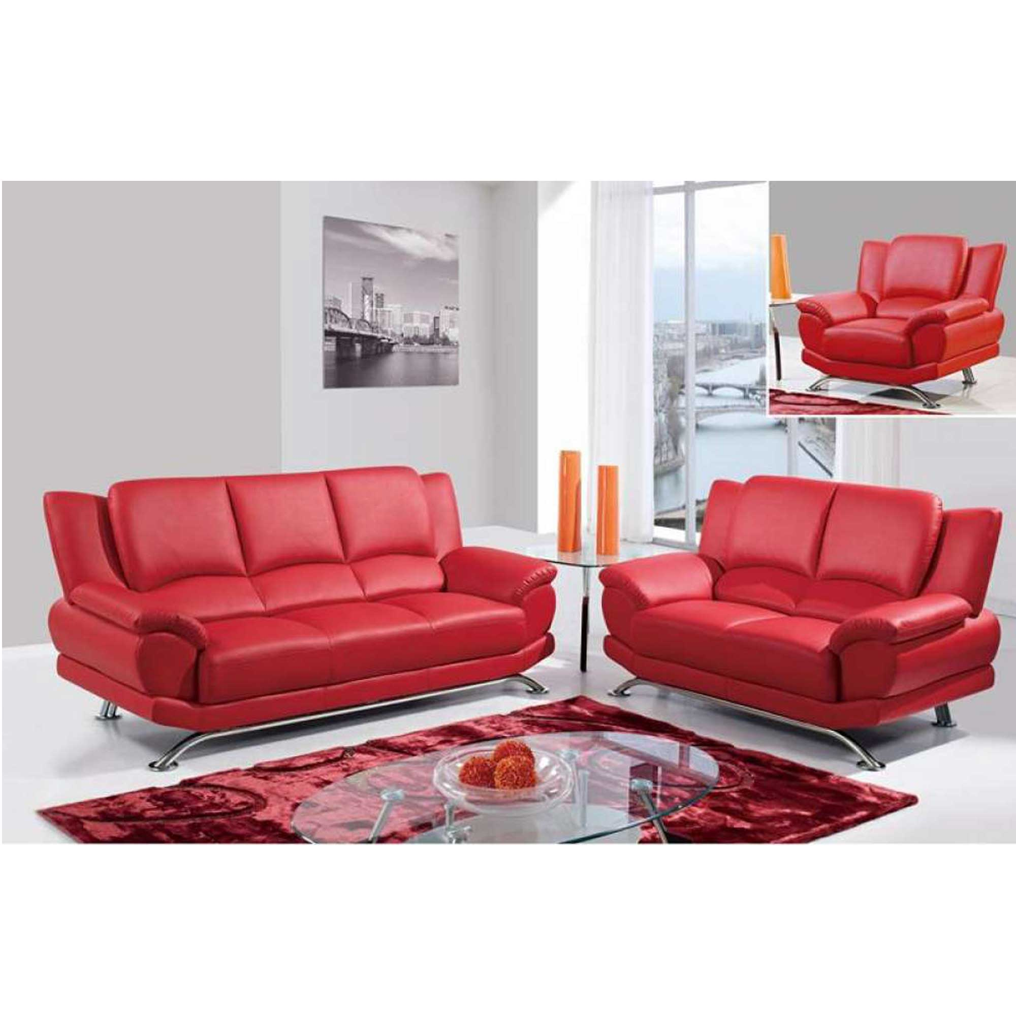 Sofa Amp Love Seat Red Home Deco